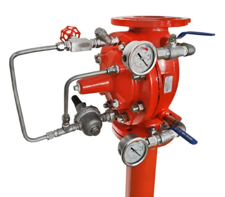Регулятор давления, регулирующий клапан после себя