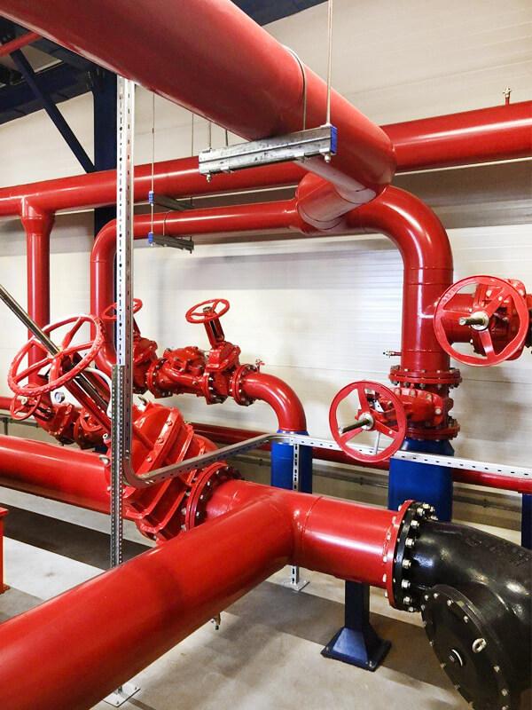 Трубопроводная система дизельной насосной станции